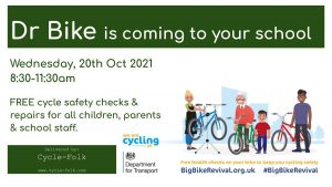 Dr Bike Returns to Southwold for FREE Cycle Safety Checks! @ Southwold Primary School